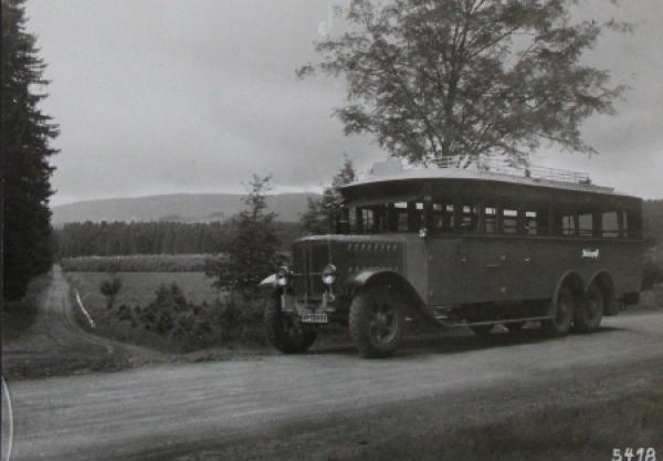 """Büssing-NAG Bus Doppelachser """"Reichspost"""" 1925 Werksphoto"""