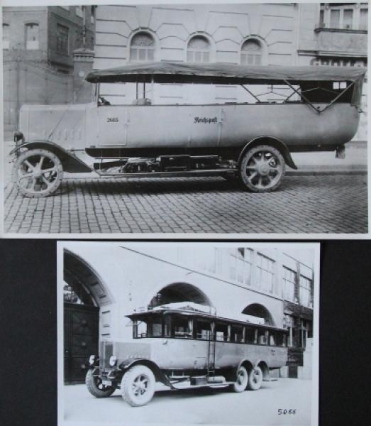 Büssing Ausichtswagen Typ III + GL VI 2 Werksphotos 1924