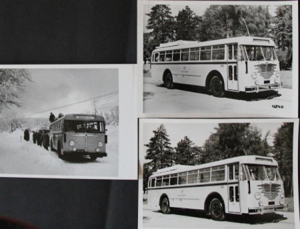 Büssing-NAG Trambus Typ 6000 T mit U10 Motor 3 Werksphotos 1953