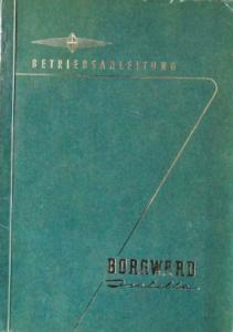 Borgward Isabella Betriebsanleitung 1958
