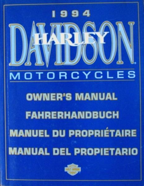 Harley-Davidson Motorcycles Sportster bis Big Twin Fahrerhandbuch 1994
