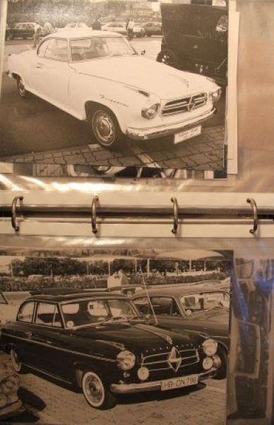 Borgward-Ordner mit 100 Borgward-Fahrzeugphotos um 1975
