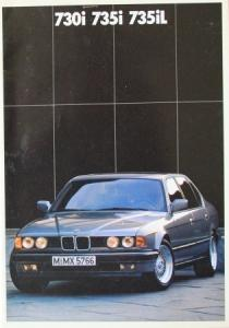 BMW 730i / 735i Modellprogramm 1987 Automobilprospekt