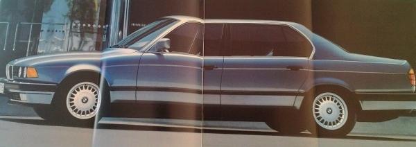 BMW 730i 735i Modellprogramm 1987 Automobilprospekt 1