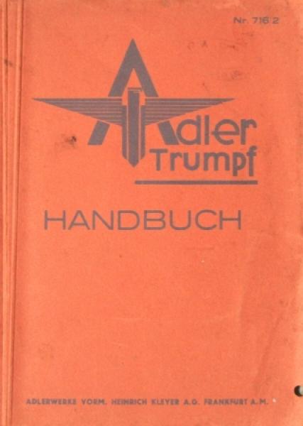 Adler Trumpf 1,5 - 1,7 Liter Betriebsanleitung 1935