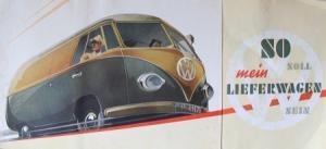 Volkswagen Transporter T1 Modellprogramm Reuters 1953 Automobilprospekt