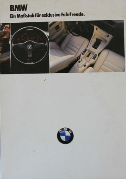 BMW 518i - 535i Modellprogramm-Mappe mit 5 Brochuren 1986 Automobilprospekte
