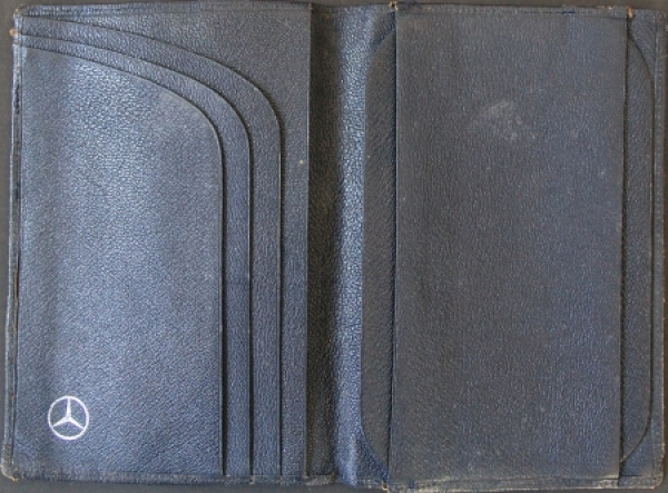 Mercedes Benz Leder-Brieftasche für Fahrzeugpapiere mit Markenlogo 1960