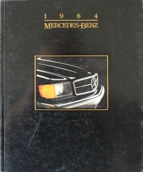 Mercedes Benz US-Modellprogramm 1984 Automobilprospekt