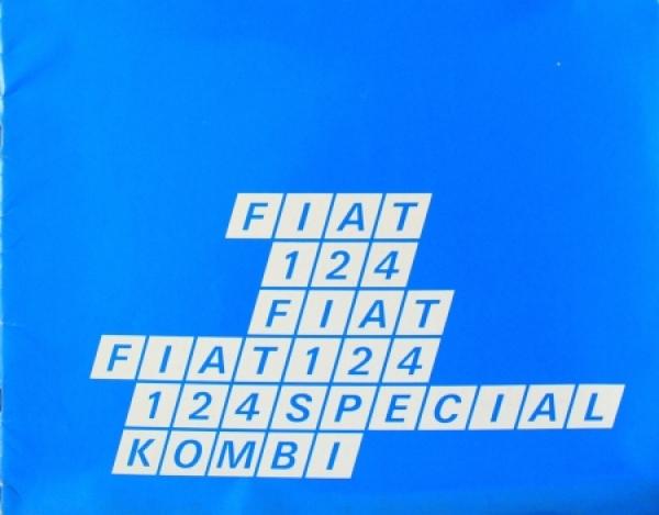 Fiat 124 Special - Kombi Modellprogramm 1969 Automobilprospekt