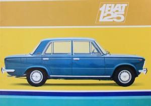 Fiat 125 Modellprogramm 1969 Automobilprospekt