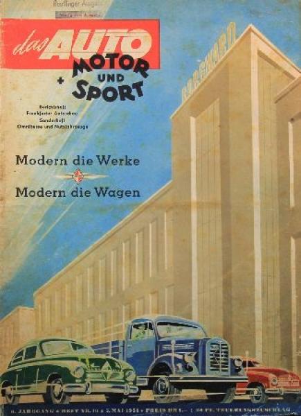 """Das Auto, Motor & Sport"" Magazin 1951"