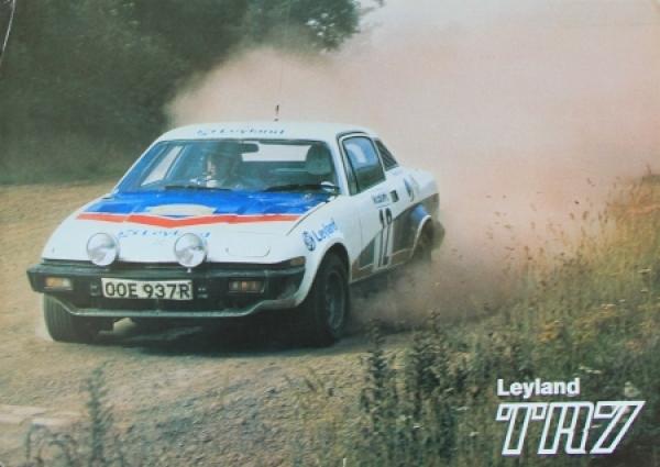 Triumph TR 7 Modellprogramm 1977 Automobilprospekt