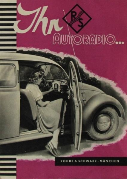 """Volkswagen """"Ihr R-S Autoradio"""" 1950 Automobilprospekt"""