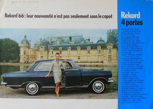Opel Rekord B 4-Portes 1965 Automobilprospekt
