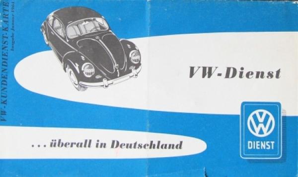 """Volkswagen Deutschlandkarte """"VW Dienst überall in Deutschland"""" 1961"""
