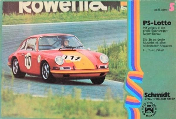 """Schmidt-Spiele """"PS-Lotto - Die große Sportwagen-Super-Schau"""" Memory-Spiel 1970"""