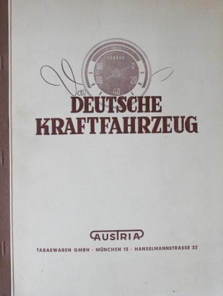 """Austria """"Deutsche Kraftfahrzeuge"""" Fahrzeug-Sammelalbum 1952 komplett"""