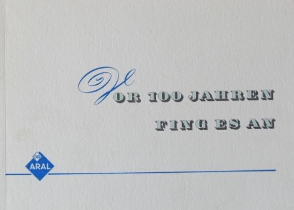 """BV Aral """"Vor 100 Jahren fing es an"""" Imagebrochure 1953"""