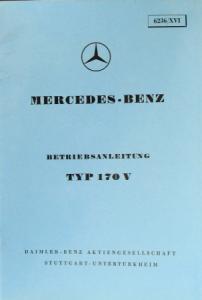 Mercedes Benz Typ 170 V 1950 Betriebsanleitung
