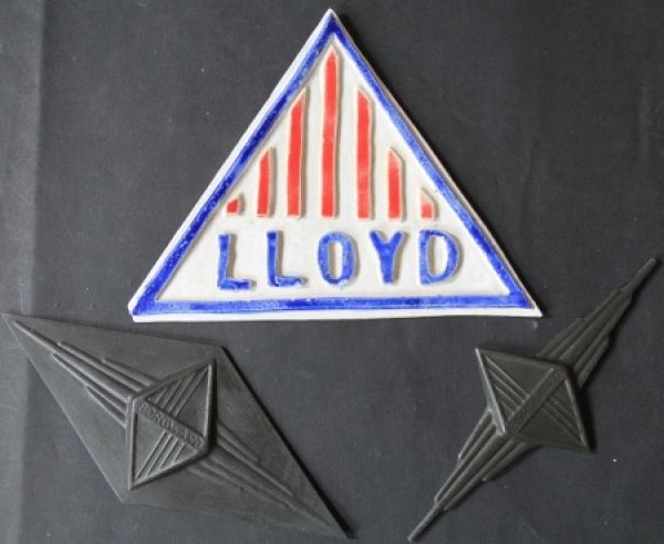 Borgward - Lloyd Logo Werbeschablonen aus Kunststoff 1960