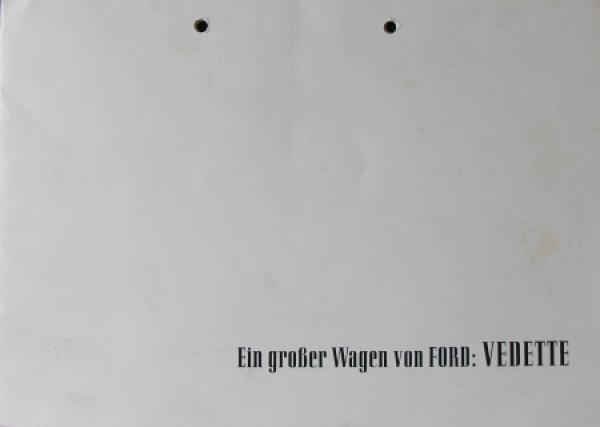 """Ford Vedette """"Ein großer Wagen von Ford"""" 1950 Automobilprospekt"""
