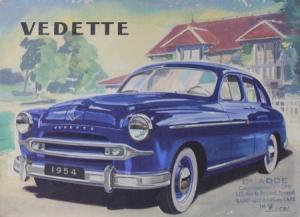 Ford Vedette Modellprogramm 1954 Automobilprospekt