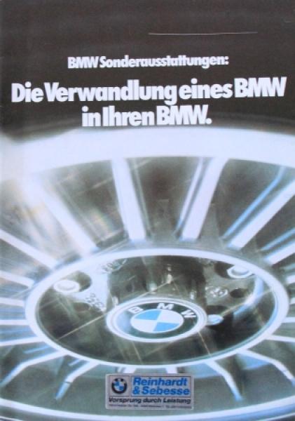 """BMW Sonderausstattungen """"Die Verwandlung eines BMW"""" 1979 Automobilprospekt"""