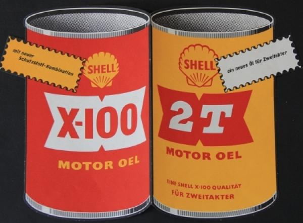 """Shell Motor-Oele """"In jedem Fall sicher mit Shell"""" 1955 Werbeprospekt"""