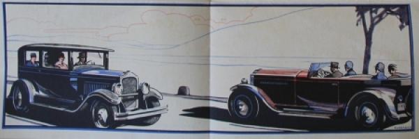 Opel 4 PS Modellprogramm 1928 Automobilprospekt 1