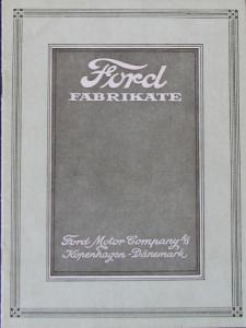 Ford Modellprogramm Fabrikate 1924 Automobilprospekt