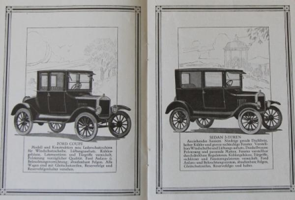Ford Modellprogramm Fabrikate 1924 Automobilprospekt 1