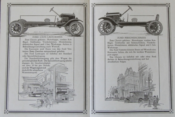 Ford Modellprogramm Fabrikate 1924 Automobilprospekt 2