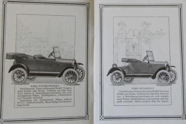 Ford Modellprogramm Fabrikate 1924 Automobilprospekt 3