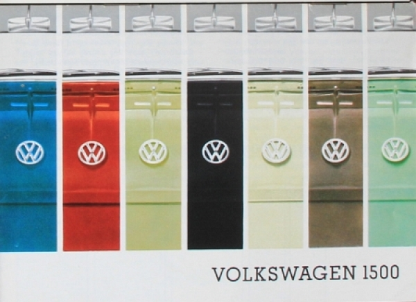 Volkswagen 1500 Farben+Polster 1963 Automobilprospekt