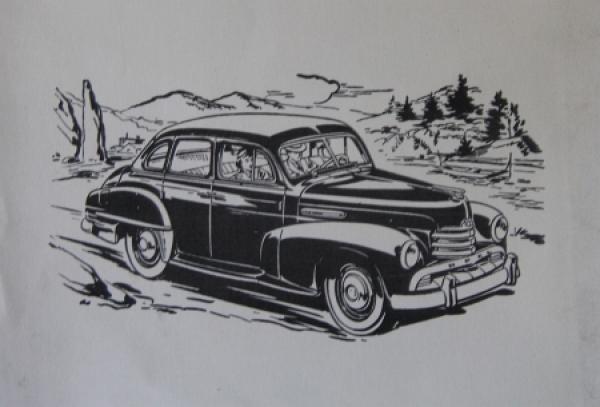 Opel Kapitän Automobil-Werbeaufsteller 1951