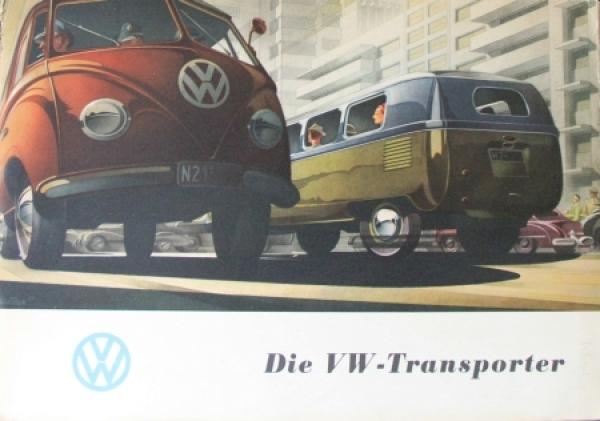"Volkswagen Transporter ""Die VW Transporter"" 1954 Automobilprospekt"