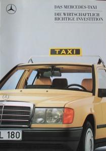 "Mercedes Benz ""Das Mercedes Taxi"" Modellprogramm 1987 Automobilprospekt"