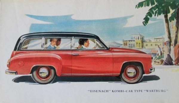 Wartburg Eisenach Kombi 1956 Automobilprospekt