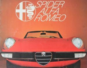 Alfa Romeo Spider 2000 Automobilprospekt 1969