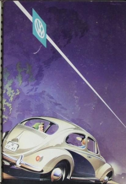 Volkswagen Käfer Modellprogramm 1958 Reuters Automobilprospekt 0