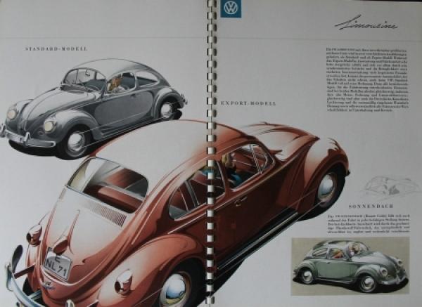 Volkswagen Käfer Modellprogramm 1958 Reuters Automobilprospekt 1