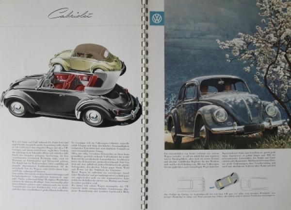 Volkswagen Käfer Modellprogramm 1958 Reuters Automobilprospekt 2