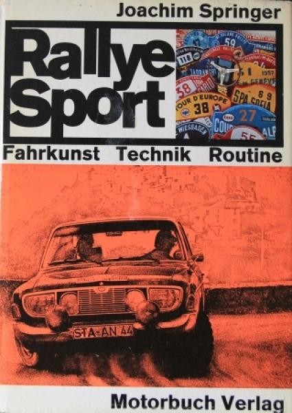 "Springer ""Rallye Sport - Fahrkunst und Technik"" Motorsport 1966"