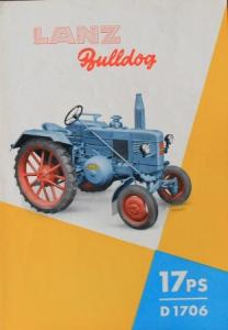 Lanz Bulldog 17 PS D 1706 Traktorprospekt 1949