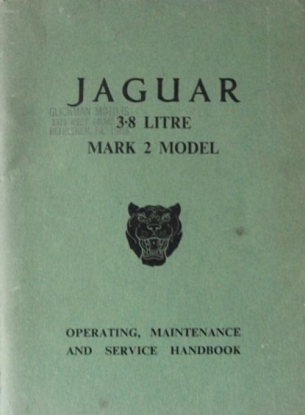 Jaguar 3.8 Litre Mark 2 Betriebsanleitung 1960