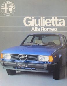 Alfa Romeo Giulietta Modellprogramm 1977 Automobilprospekt