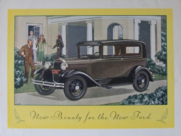 """Ford Model A """"New beauty for the new Ford"""" 1928 Automobilprospekt"""