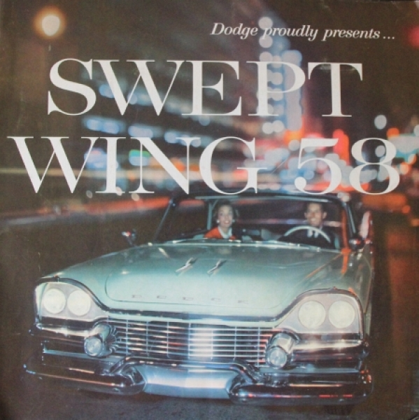 "Dodge Modellprogramm ""Swept Wing 58"" 1958 Automobilprospekt"