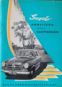"""Borgward Image-Brochure """"Segelanweisung für die Kraftfahrerin"""" 1955"""